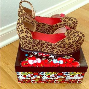Jeffrey Campbell Hello Kitty platform wedges